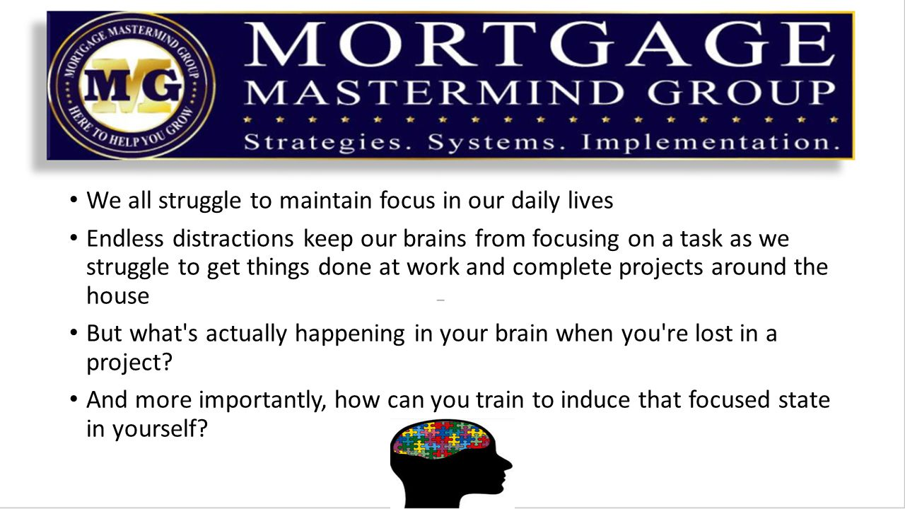 It is important to understand what is actually happening in your brain when you are focused and what happens when distractions occur Once you understand what's happening you can eliminate the distractions and train your brain to focus better