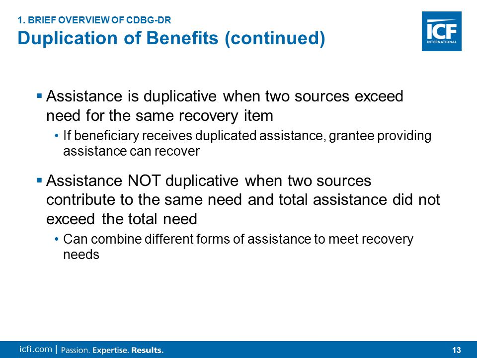 14 icfi.com | Administering State Disaster Recovery Programs 1.