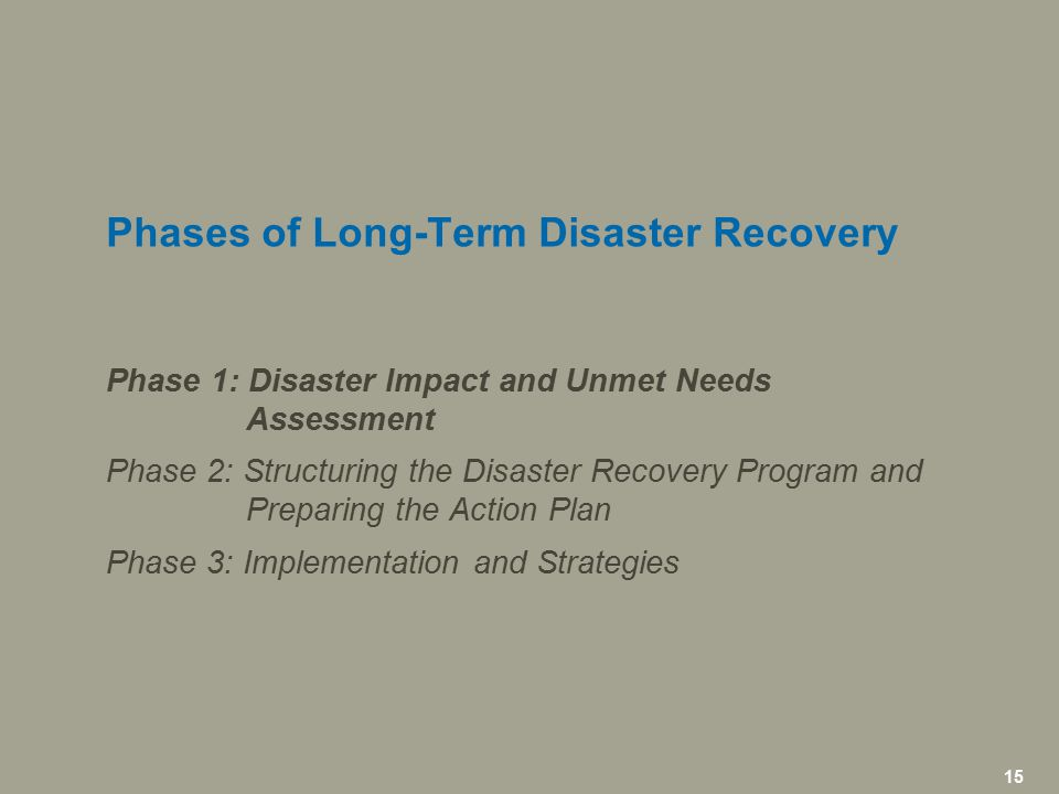 16 icfi.com | Steps to Conducting a Disaster Impact and Unmet Needs Assessment DISASTER IMPACT AND UNMET NEEDS ASSESSMENT: PHASE I  Part1: Assessing the Current Situation  Part 2: Estimating Unmet Needs  Part 3: Determining Capacity  Part 4: Prioritizing Needs