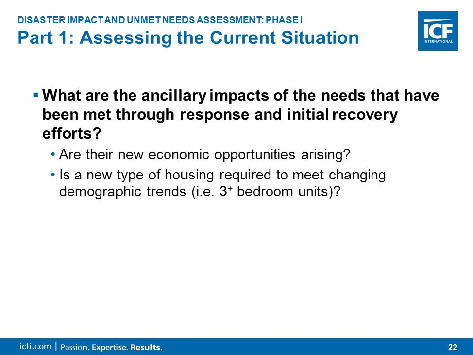 23 icfi.com |  What roles have stakeholders played in emergency and short-term recovery efforts.