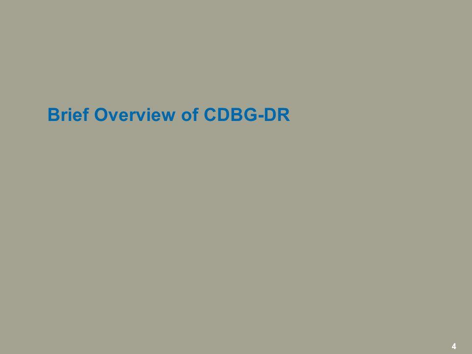 5 icfi.com | CDBG-DR Overview 1.