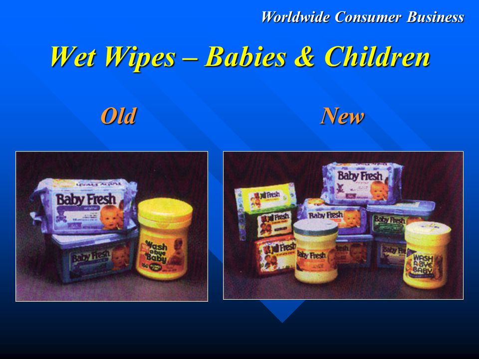 Worldwide Consumer Business Wet Wipes – Adults OldNew