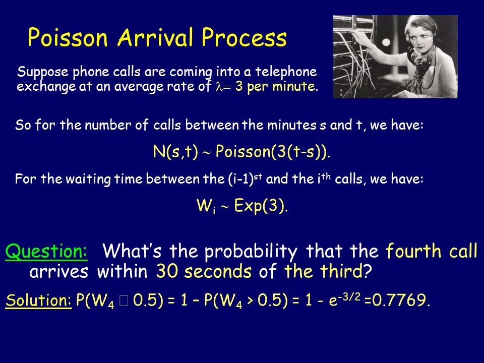 Poisson Arrival Process Question: What's the probability that the fourth call arrives within 30 seconds of the third.