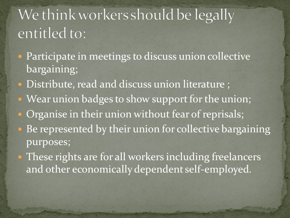 Dismiss, threaten to terminate or not renew a contract; layoff, discipline, harass, transfer, or reassign a worker because they support the union; Close or threaten to close the place of employment or take away benefits or privileges in order to discourage union activity; Promise employees a pay increase, promotion, benefit or special favor if they oppose the union; Ask the worker their opinion of the union.