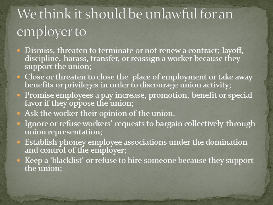 Legal duty on employers to put in place 'adequate and suitable' arrangements for 'collective bargaining' Define 'aadequate and suitable' arrangements for collective bargaining to include an obligation to respect the right to organise; and to be represented by a trade union for the purpose of collective bargaining;