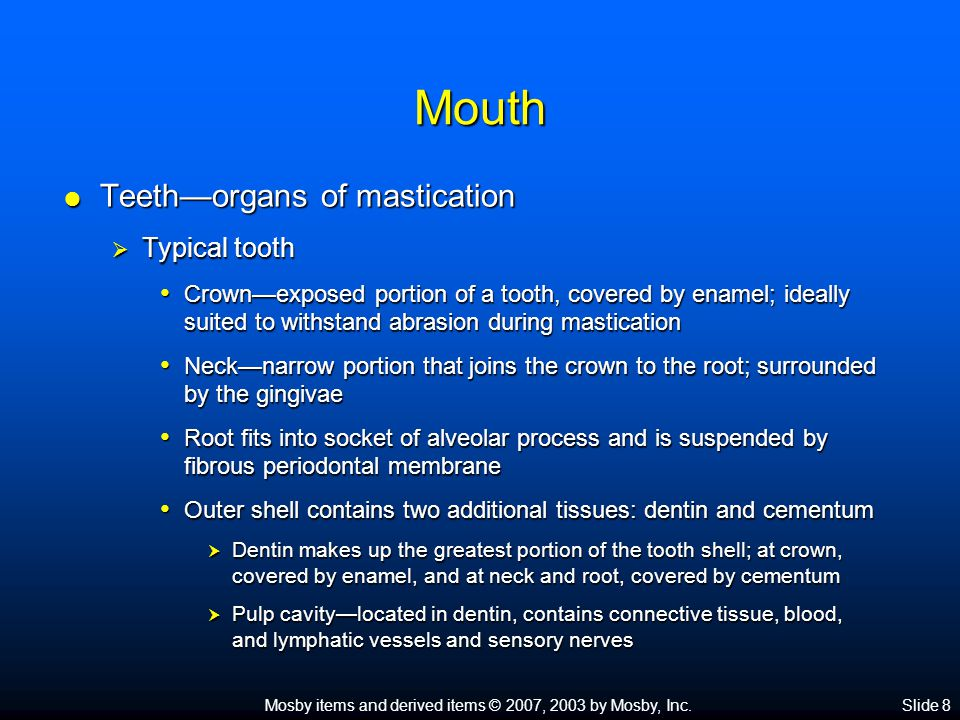 Mosby items and derived items © 2007, 2003 by Mosby, Inc.Slide 9
