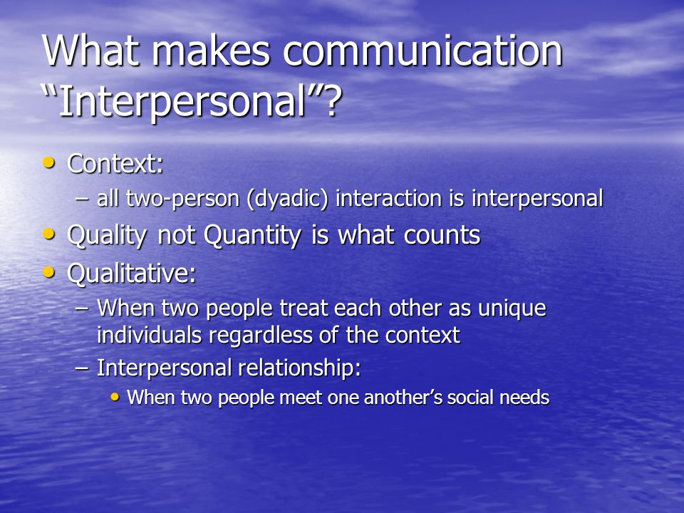 Content vs.Relational Messages Every verbal msg. contains two kinds of msgs.