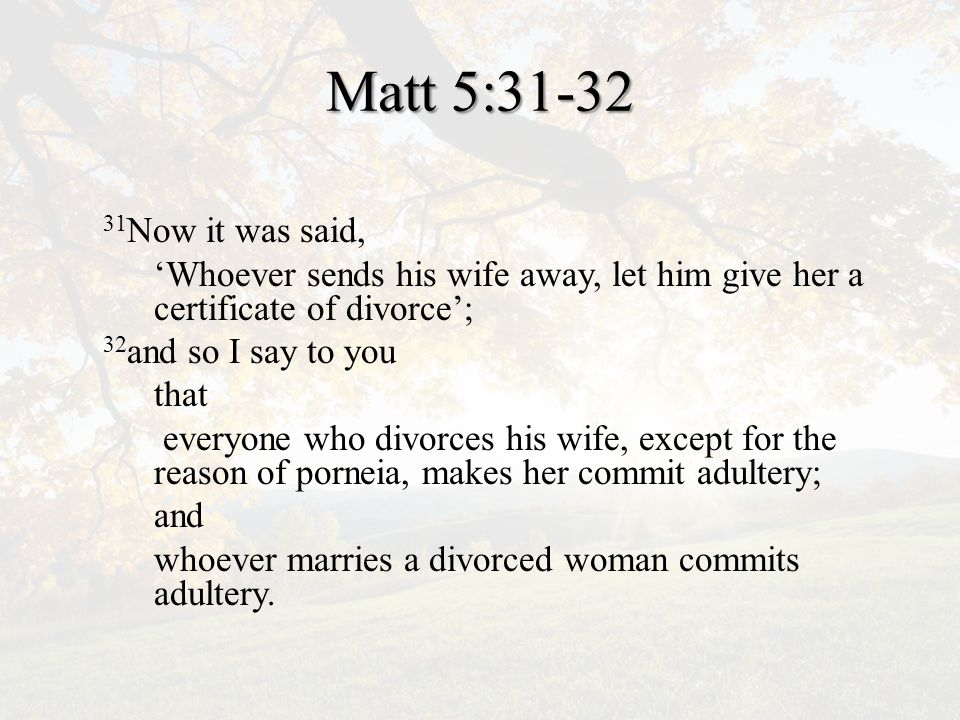 Divorce in Jesus' Day A cultural problem A rabbinical argument An abuse of Deuteronomy 24