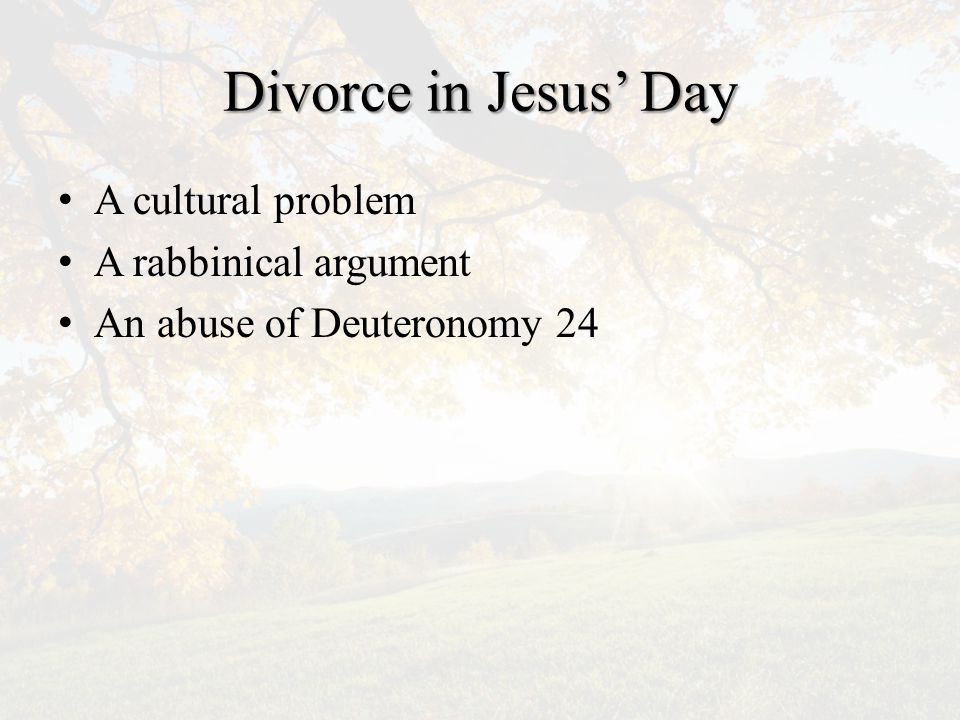 Divorce In Any Time 1.1.Viewed by its impact on the other person.