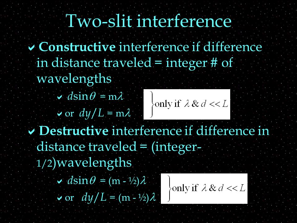 How does interference pattern depend on  slit separation.