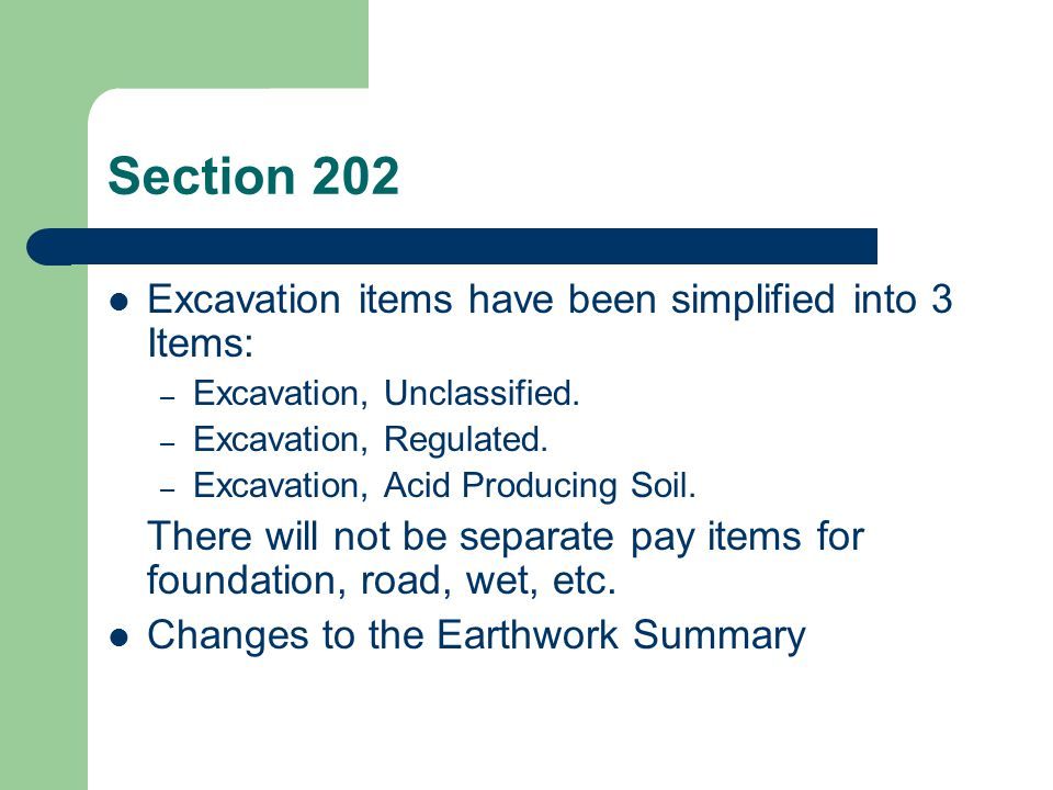 Section 202 202.03.07 Reuse or Disposal of Excess Material A.Reuse.