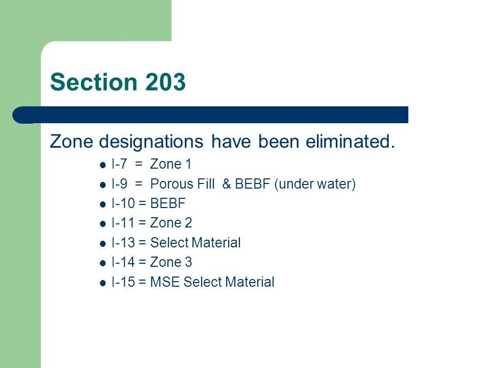 Section 203 Compaction Methods have been reduced and consolidated