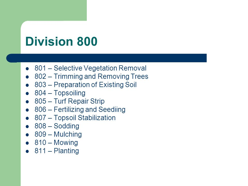 Section 801 Combined Selective Thinning and Selective Clearing into one specification