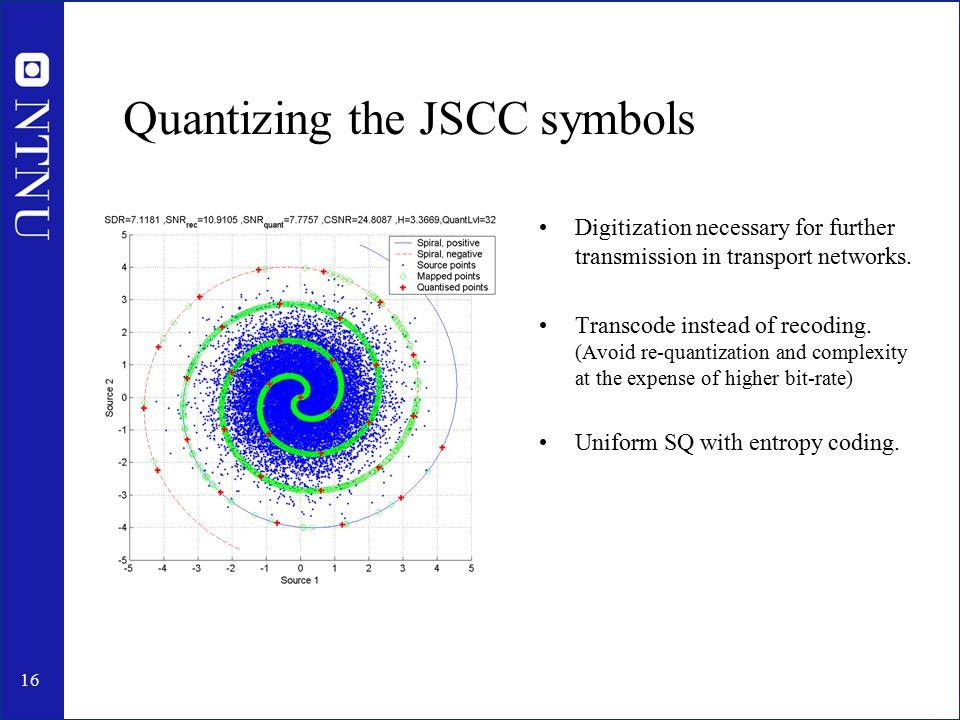 17 Quantizing the JSCC symbols (Cont'd)