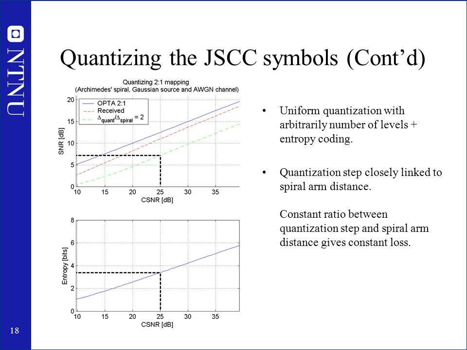 19 Quantizing the JSCC symbols (Cont'd)