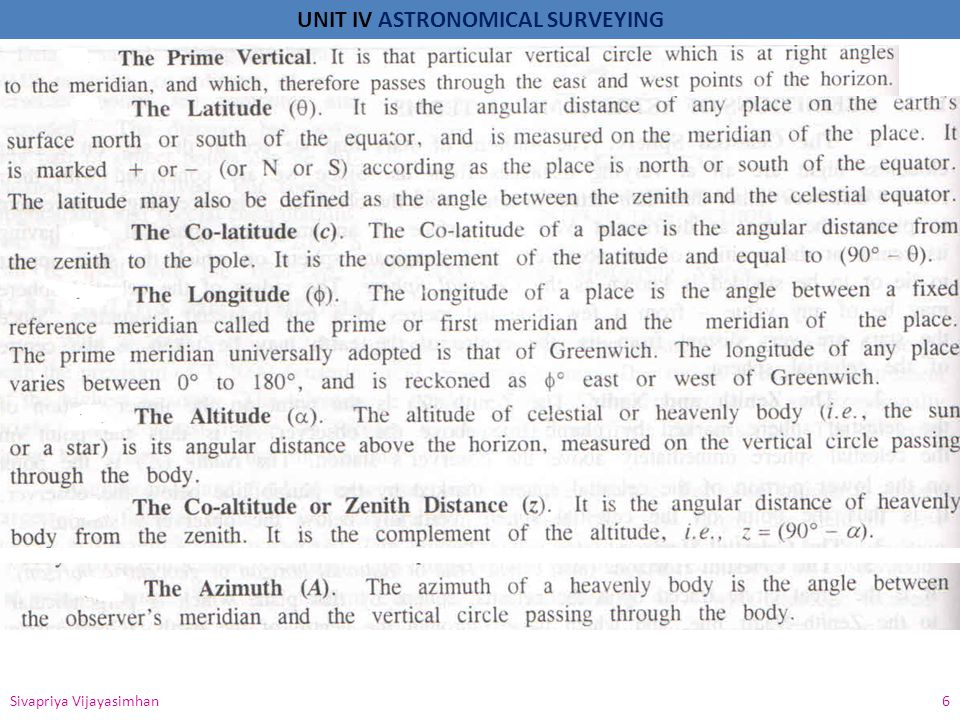 UNIT IV ASTRONOMICAL SURVEYING Sivapriya Vijayasimhan 7 Fig 1 Fig 2