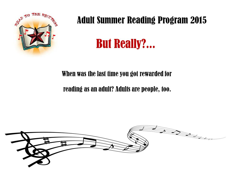 Adult Summer Reading Program 2015 Who.
