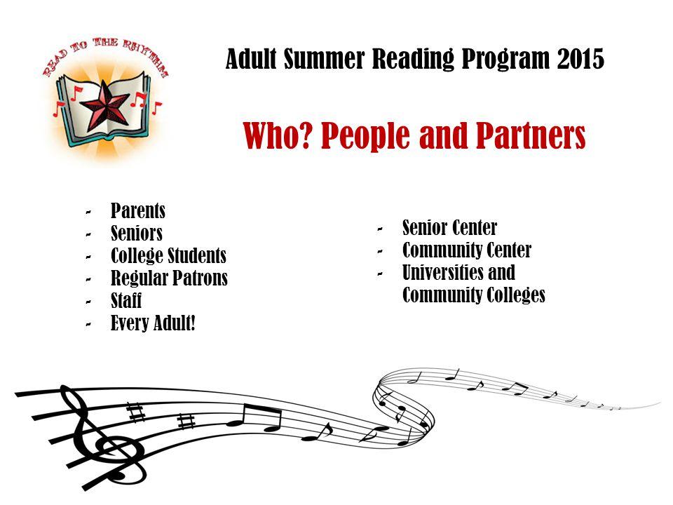 Adult Summer Reading Program 2015 How.