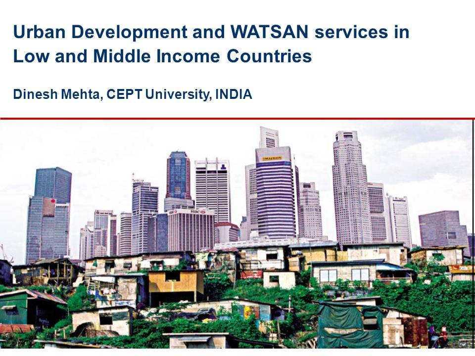 Urban Development – 4 Ps People Places ProsperityPoverty