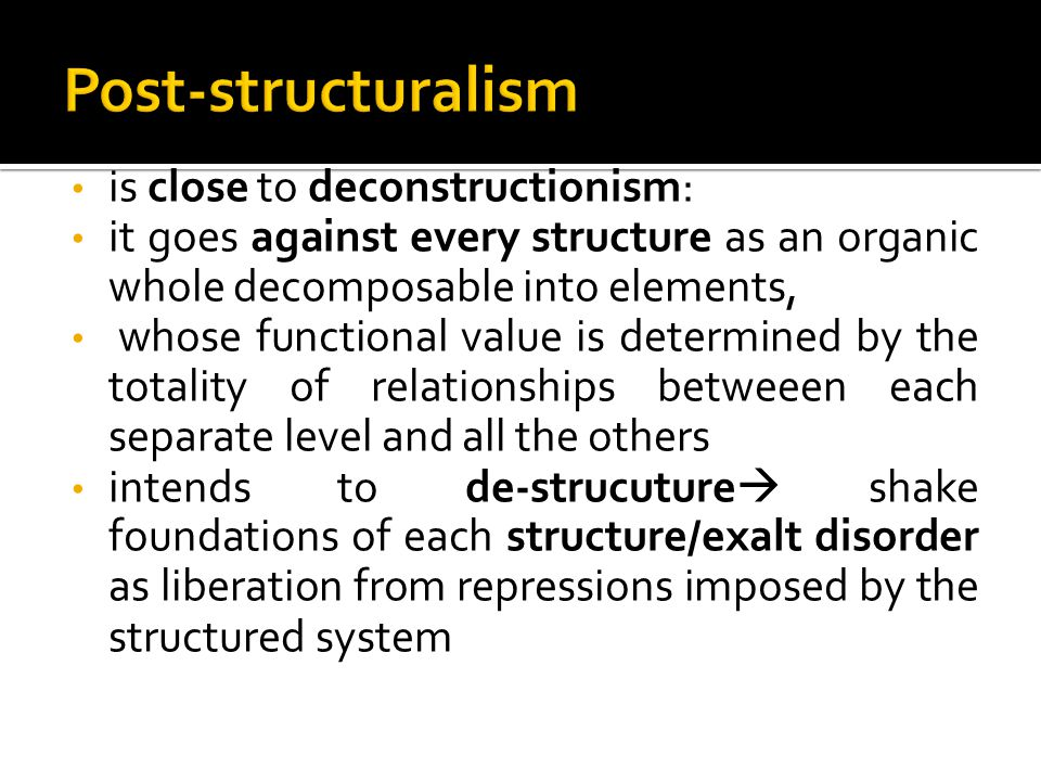  This line of thought radicalizes the premises of social constructionism: Post-structuralist deconstructonism marks a radical change in the way of understanding the gender category, bringing it toward the extinction of the same meaning