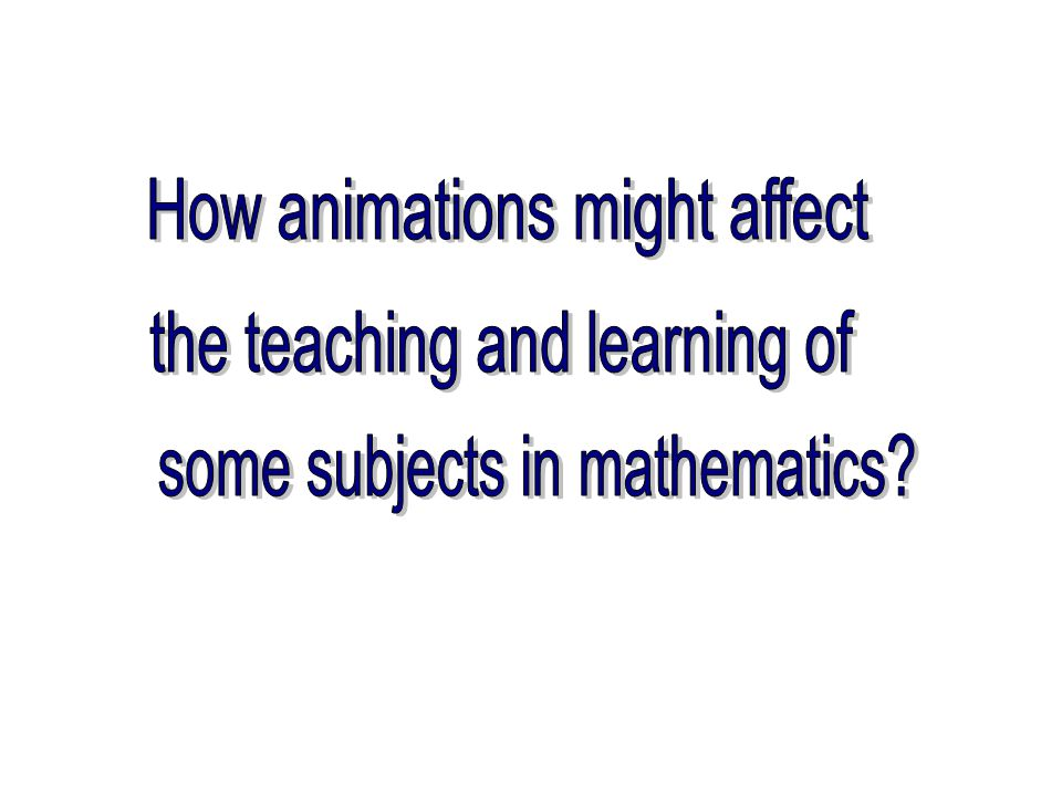Important role played by the usage of animations in students' process and object understandings Using animations could reinforce some existing misconceptions or generate new misleading images.