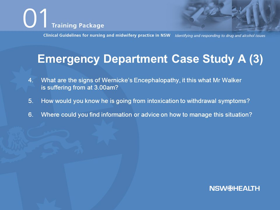This case study is best conducted with an Emergency Department (ED) nurse, preferably an CNS, CNE/CNC 1-2.