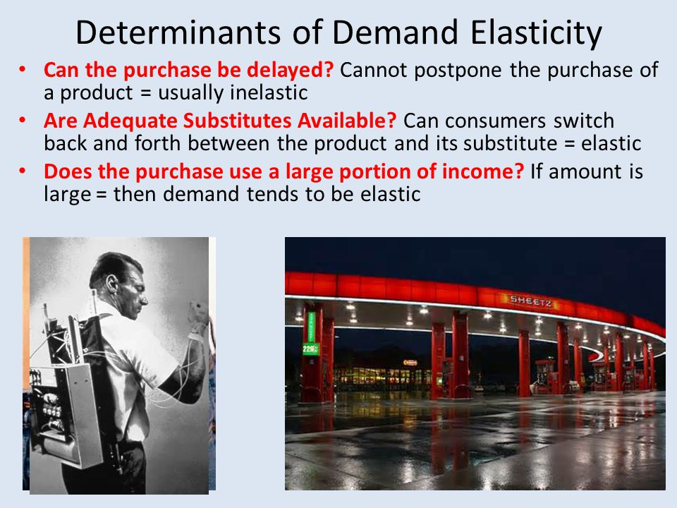 Total Revenue Test In economics, the Total Revenue Test is a means for determining whether demand is elastic or inelastic.