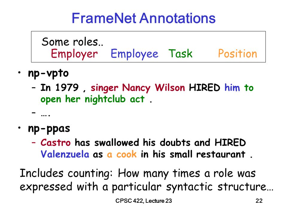 CPSC 422, Lecture 2323 Lecture Overview Ontologies – what objects/individuals should we represent.