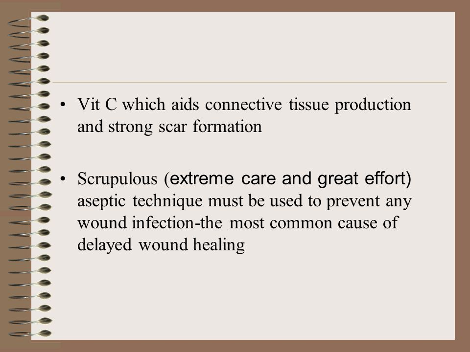 Factors influencing wound healing Theories abound as to the genesis of wound infection.