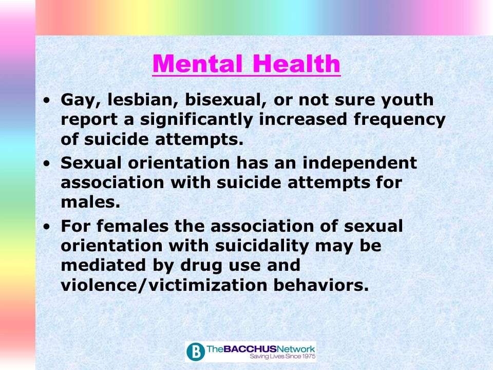 Mental Health Lesbian and bisexual women were found to have a higher prevalence of several important risk factors for breast cancer, CVD, and poor mental health and functioning outcomes.