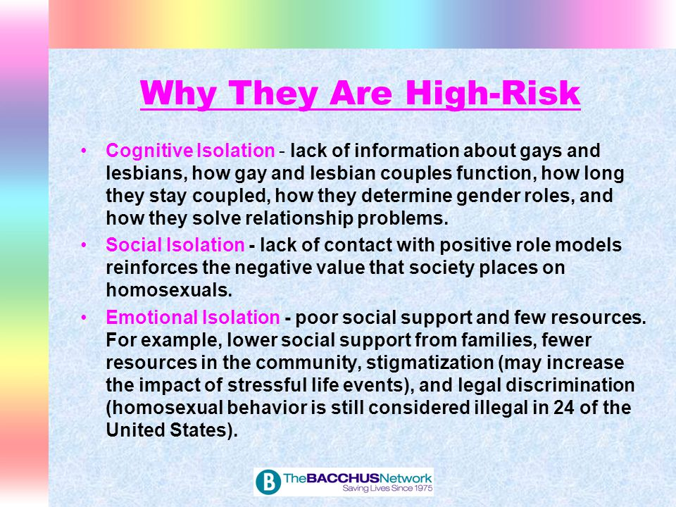 Five Substance Abuse-Specific Risk Factors for LGBT Adolescents: 1.