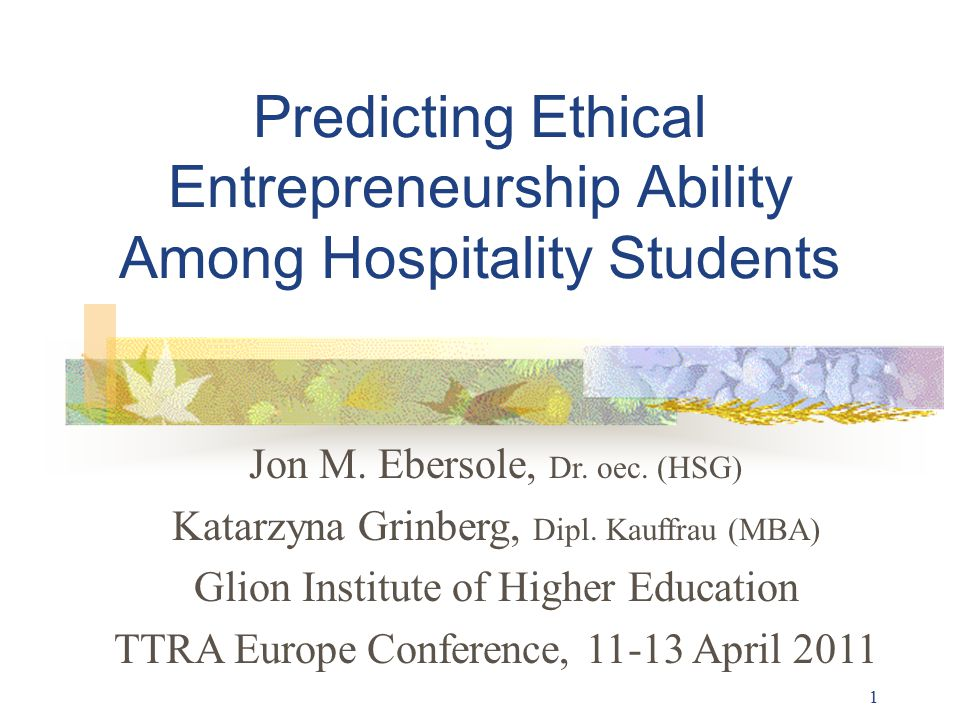 2 Presentation Outline I The Voyage of Life II Kohlberg s Stages of Ethical Judgment Capacity III Kegan s Stages of Socio-Emotional Maturity/Stature IV Assessing Hospitality Students V Conclusions & Discussion