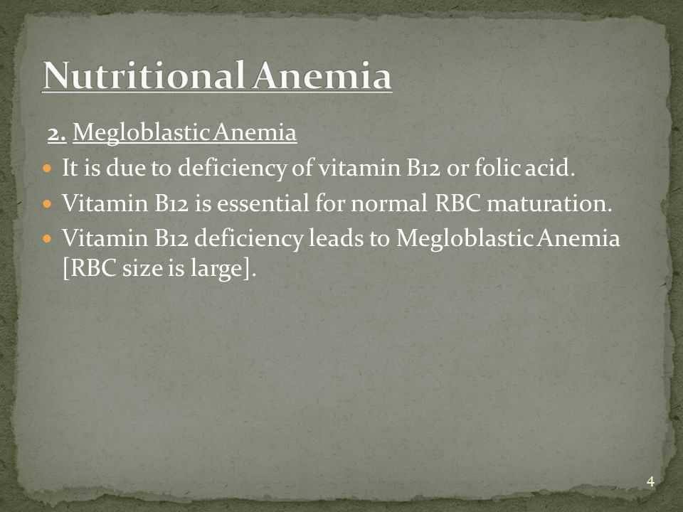 Pernicious Anemia - It is due to deficiency of Intrinsic factor produced by Parietal cells of stomach.