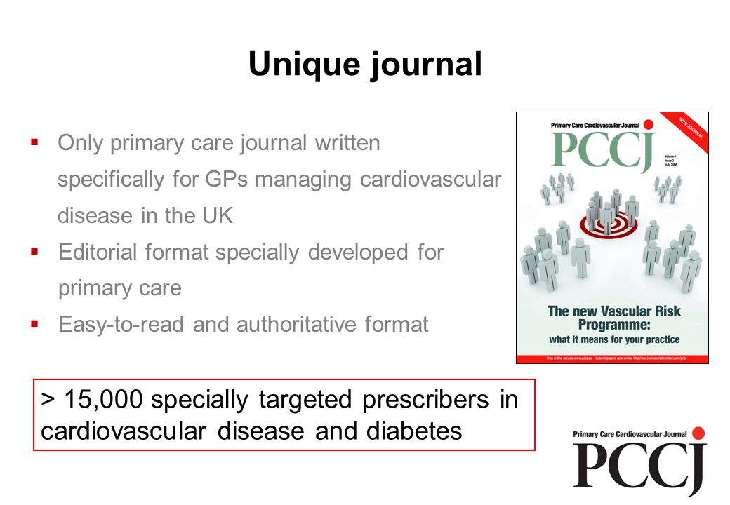 The right circulation GPsWi's special interest in diabetes or cardiology Lead GPs in diabetes clinics GPs in practices with highest treated populations of CHD and diabetes (NHS QOF data 2008) PCO disease co-ordinators - CHD - Diabetes Pharmaceutical advisors Prescribing advisors Total Largest primary care circulation in the UK specifically targeting cardiovascular disease and diabetes 3,265 4,470 7,265 85 132 248 180 15,645