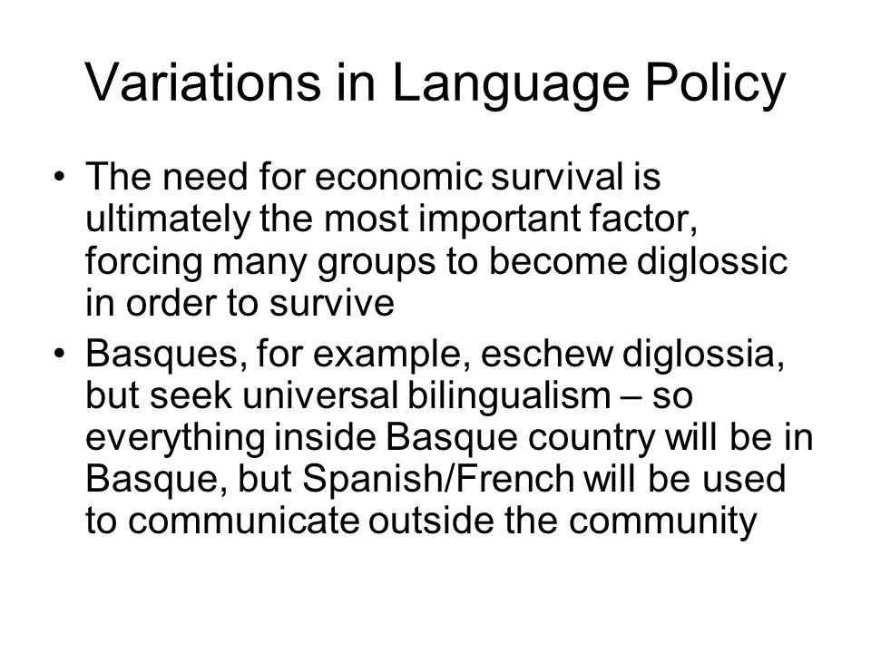 Outside – Inside Insiders experience the link between language and ethnicity positively, as something romantic and essential This energy can also be genocidal
