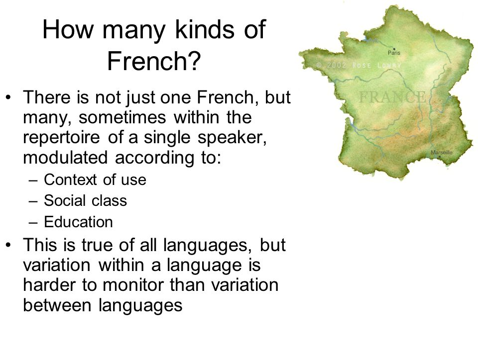 Variation in Ethnolinguistic Saliency An individual may belong to many groups An individual's ethnic identity may be more salient in some contexts than in others The salience of using a specific language may also depend on context – when more than one language may be used, what prompts speakers to choose one over the other.