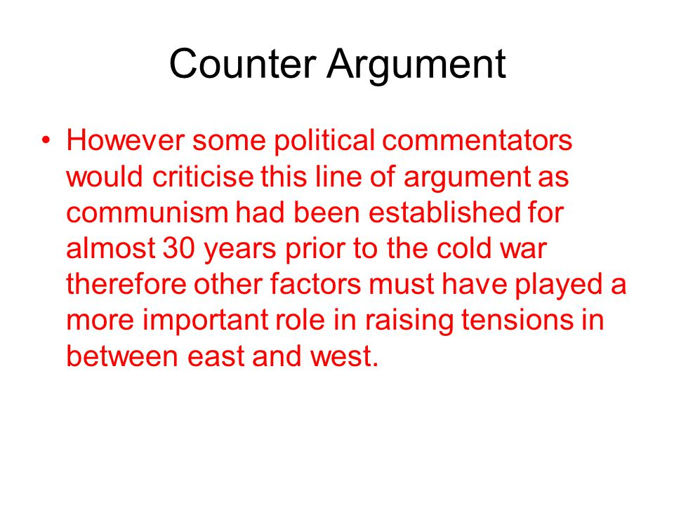 Summing up Ideologies What is undoubtedly clear is that the ideological differences had laid the seeds of the Cold War.