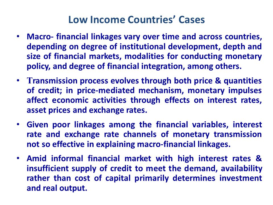 Concluding Remarks (1) Experiences show strong correlation between financial sector development & economic growth, with causation running in both directions.