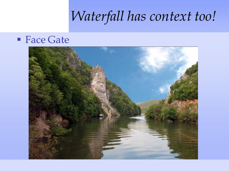 Waterfall has context too!  Face Gate
