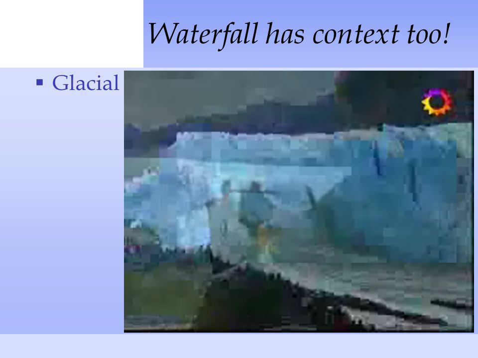  Glacial Waterfall has context too!