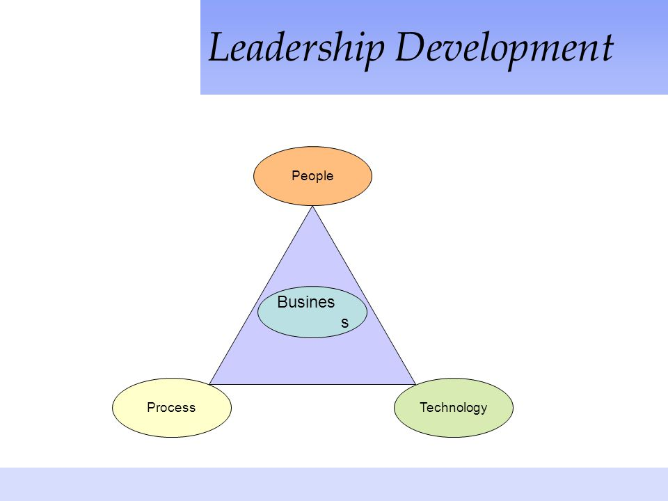 Leadership Development Process People Technology Busines s
