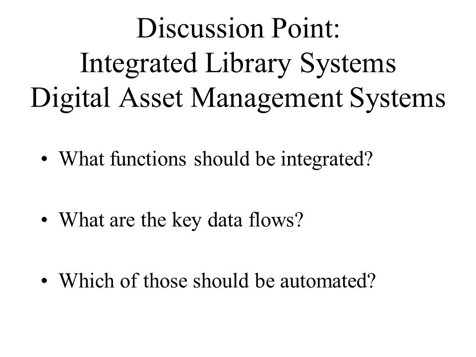 Some Commercial Integrated Library Systems (ExLibris) Aleph [academic] (Follett) Destiny [schools] (SirsiDynix) Symphony [public] WorldCat Local