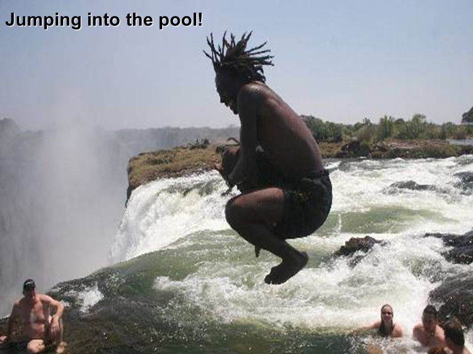 Jumping into the pool!