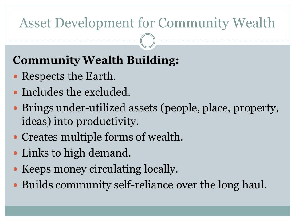 How Is Wealth Typically Defined.Wealth is not just money.