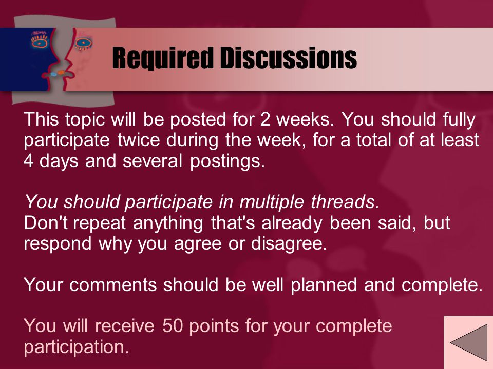 Student Questions Discussion Board Use this forum to post questions about assignments, course content, etc.
