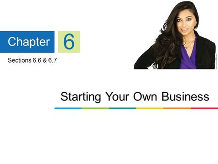 Starting Your Own Business Chapter 6 Sections 6.6 & 6.7.