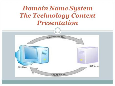 Domain Name System The Technology Context Presentation.