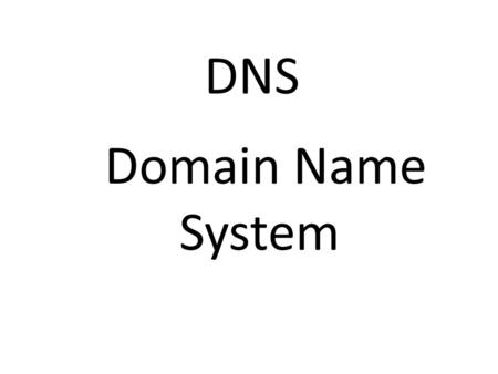 DNS Domain Name System. Lots of people use the internet for different reasons. DNS Plays a big role in the internet. The DNS translates domain names into.