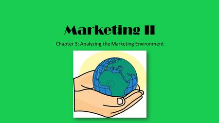 Marketing II Chapter 3: Analyzing the Marketing Environment.