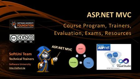 ASP.NET MVC Course Program, Trainers, Evaluation, Exams, Resources SoftUni Team Technical Trainers Software University